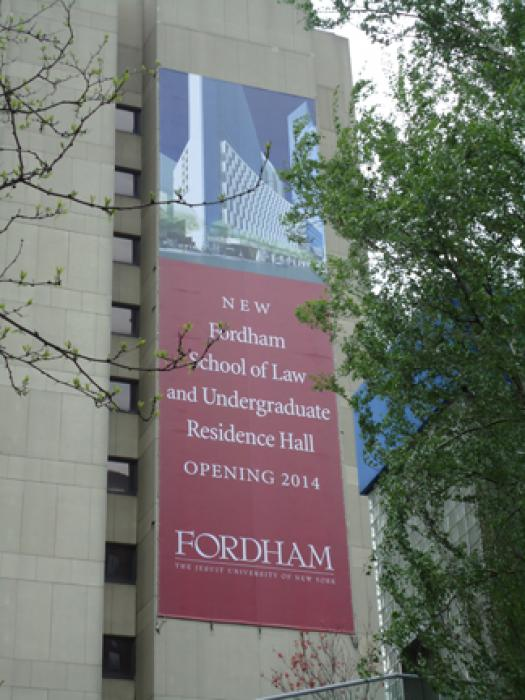 Fordham Groundbreaking Grand Format Banner
