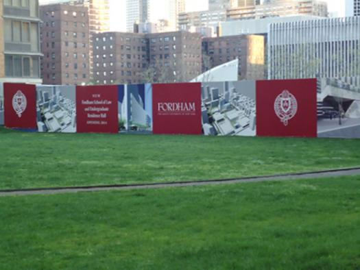 Fordham Groundbreaking Construction Banners