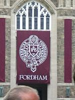 Ace Banner - Fordham Commencement Banner (Closeup)